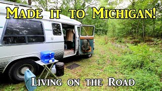 Made it to Michigan! - Living on the Road