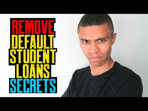 REMOVE DEFAULT STUDENT LOANS SECRETS || 122 POINTS CREDIT SCORE BOOST