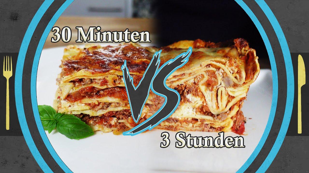 schnelle 30 min One-Pot Lasagne *VS* kein Stress kochen Lasagne Rezept