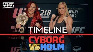 Video UFC 219 Timeline: Cris Cyborg vs. Holly Holm - MMA Fighting download MP3, 3GP, MP4, WEBM, AVI, FLV November 2018