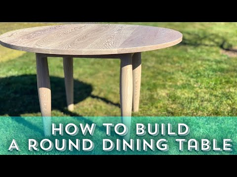 how to build a round dining table easy diy dining table