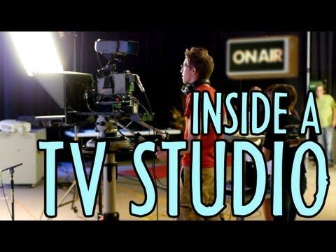 Inside a TV Studio, Crew & Gear at WTVP : Indy  November 19, 2012
