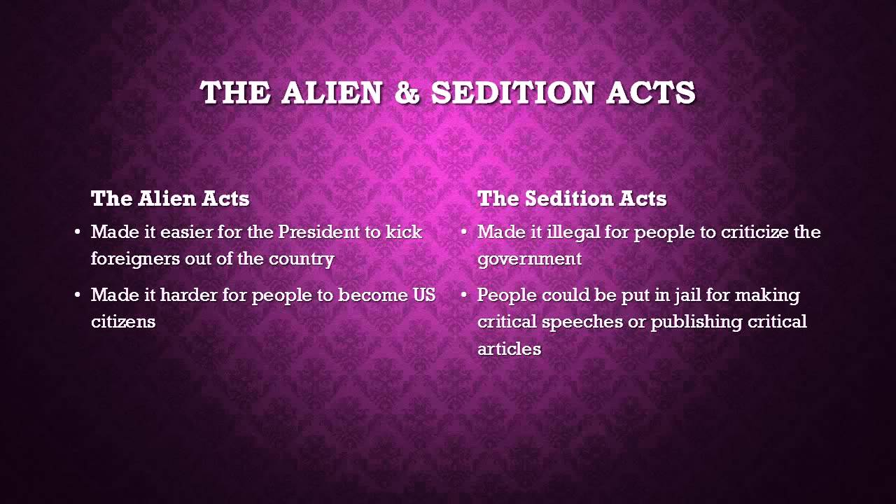 the bitter controversies of the alien and sedition acts of 1798 10 facts about the alien and sedition acts learn with flashcards, games, and more — for free.