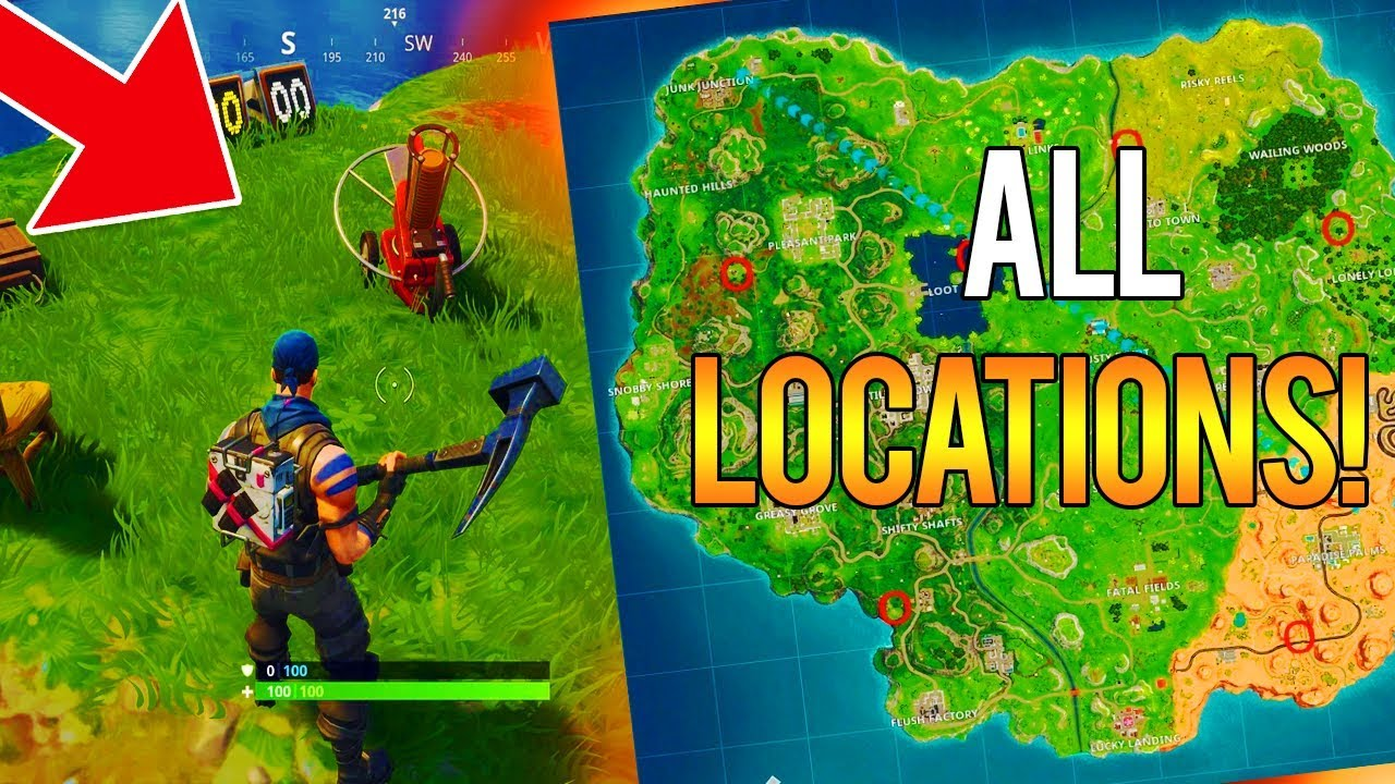 Shooting Gallery Locatios: WHERE TO FIND ALL CLAY PIGEON LOCATIONS In FORTNITE