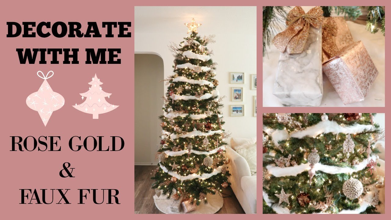 DECORATE WITH ME ROSE GOLD CHRISTMAS TREE