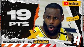 LeBron James 19 Pts 11 Reb Full Highlights | Thunder vs Lakers