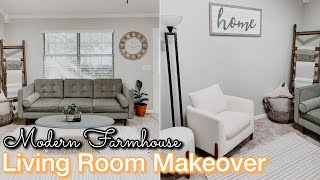 DIY LIVING ROOM MAKEOVER ON A BUDGET | Decorating Ideas | Modern Farmhouse Living Room | Home DIY