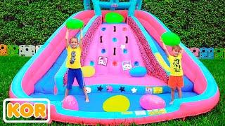 블라드와 니키타 용 풍선 슬라이드 거대한 계란 서프라이즈 장난감 도전