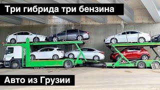 Три гибрида, три бензина /// Авто из Грузии, поиски, проверки, обзоры