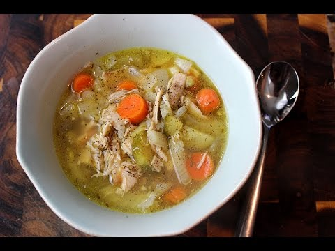 LOW CARB Rustic Chicken Soup