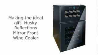 Husky Reflections Mirror Front Dual Zone Wine Cooler