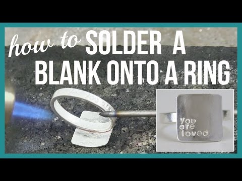 How to Jewelry Solder a Blank onto a Ring - Beaducation.com