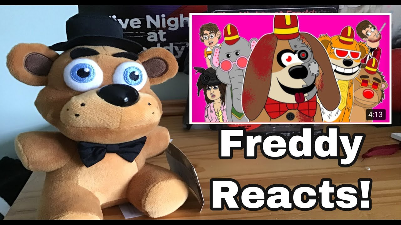 FNAF Freddy Fazbear Reacts To: THE BANANA SPLITS MOVIE THE MUSICAL - Animated Song By LHUGUENY