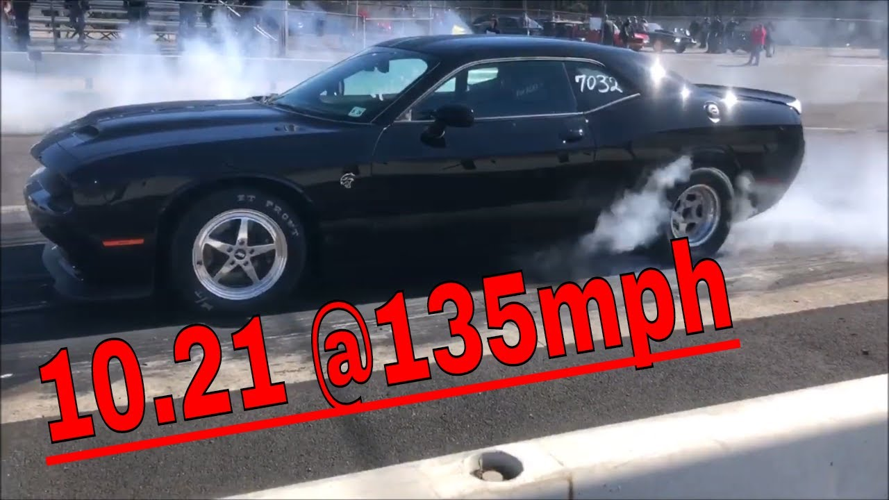Stock Tune Hellcat goes 10.21 1/4 mile with the Ripatuned Incognito Sleeve