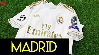 Adidas Real Madrid Hazard 2019/20 Uefa Champions League Home Soccer Jersey Unboxing + Review