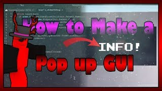 ROBLOX Scripting Tutorial | How To Make a Pop Up Gui From a Brick!