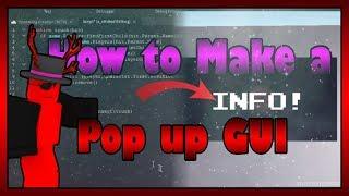 TUTORIEL de scriptS ROBLOX (fr) Comment faire un Pop Up Gui à partir d'une brique!