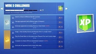 Fortnite WEEK 2 CHALLENGES GUIDE! - SECRET Banner Location (Fortnite Battle Royale Season 7)