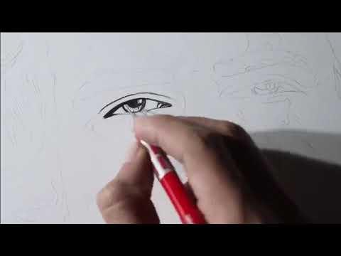 Drawing JOKER with Pencils – Joaquin Phoenix