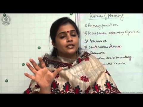 Meaning and Features of Planning Class XII Business Studies by Ruby Singh