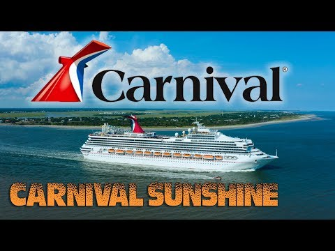 Drone Flight Of The Carnival Sunshine Cruise Ship Charleston, South Carolina.