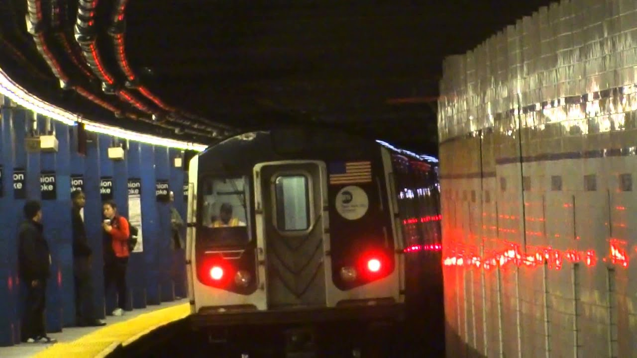Nyc Subway Not In Service R160 Entering Leaving Kew Gardens Union Turnpike Youtube