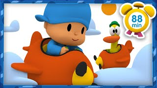 ✈ POCOYO in ENGLISH - Flying on holiday [88 min] | Full Episodes | VIDEOS and CARTOONS for KIDS