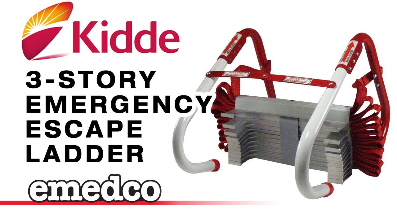 Kidde 3 Story Emergency Escape Ladder Emedco Video Youtube