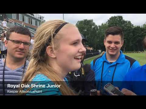 Royal Oak Shrine players talk D4 state championship game