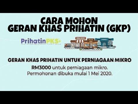 Cara Mohon Geran Khas Prihatin (GKP)