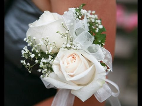 White Rose Corsage And Boutonniere Youtube