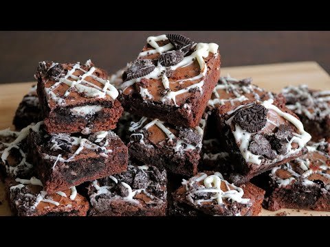 Easy Cookies and Cream Oreo Stuffed Brownies - So Delicious!