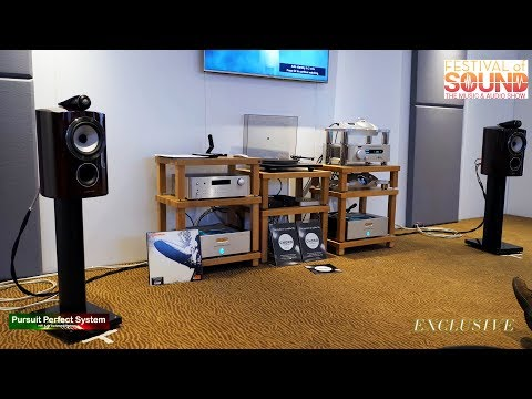 Bowers and Wilkins 805 D3 Speakers Chord DAVE BLU MKII & Amps @  Festival of Sound 2018