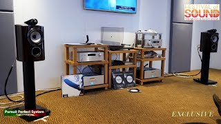 Gambar cover Bowers and Wilkins 805 D3 Speakers Chord DAVE BLU MKII & Amps @  Festival of Sound 2018