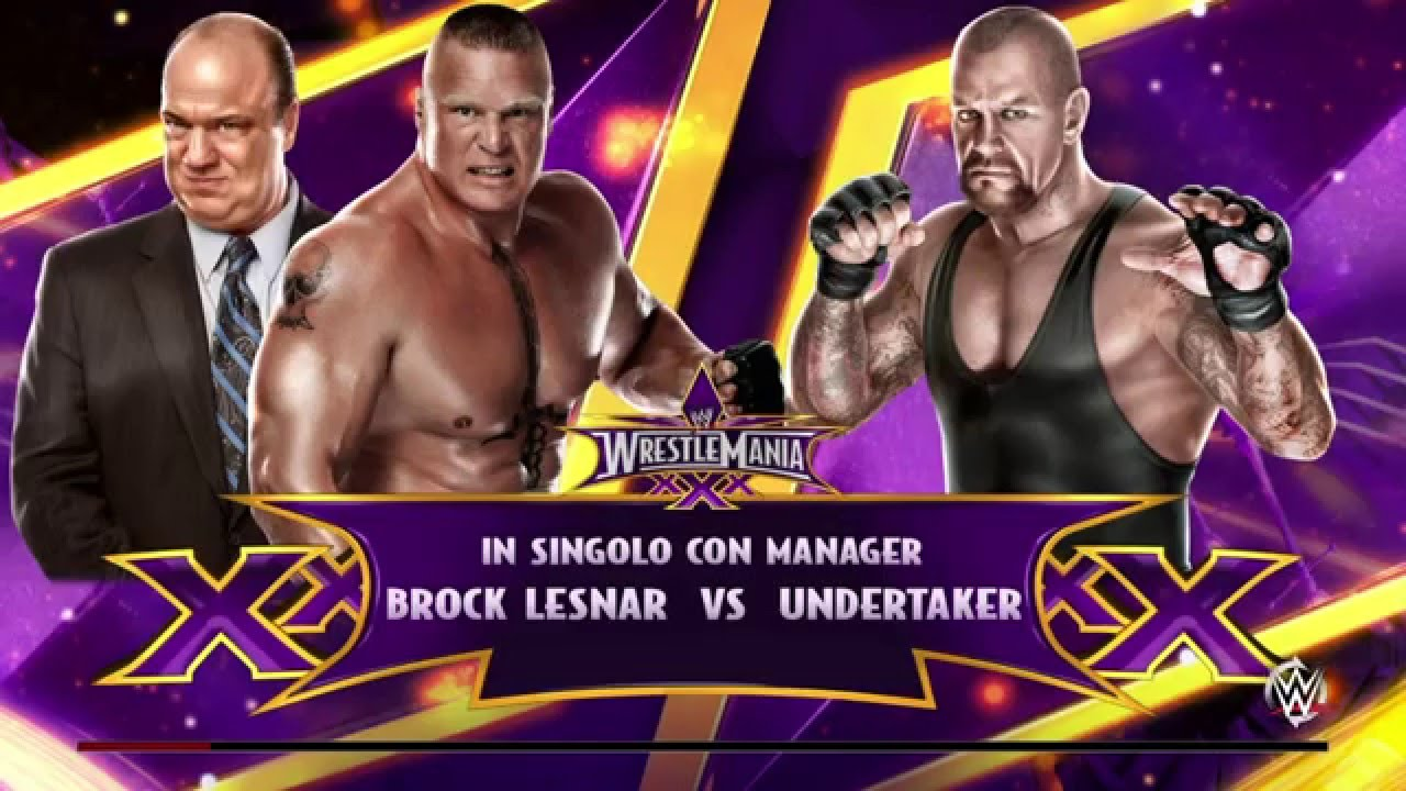 WWE 2K15 UNDERTAKER VS BROCK LESNAR WRESTLEMANIA 30 - YouTube