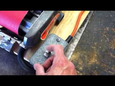 Home Made Table Top Belt Sander Youtube