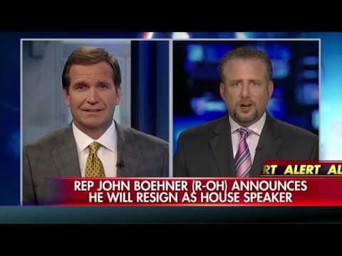 Why did John Boehner resign?