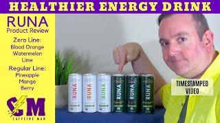 Runa Organic Energy Drink - Healthy Energy Drink Product Review - Guayusa Leaf, Guayusa Tea
