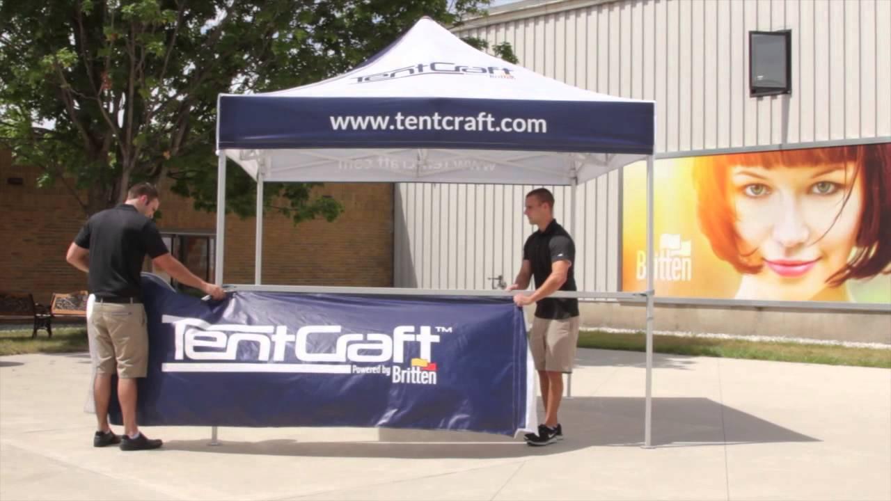 TentCraft - Pop Up Tent Accessories - Half-Wall Installation & TentCraft - Pop Up Tent Accessories - Half-Wall Installation - YouTube