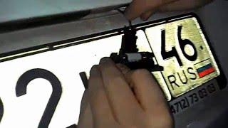 Замена/установка лампочки освещения номера на skoda fabia