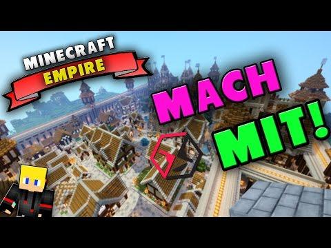 Minecraft Empire #1 | Das neue COMMUNITY Projekt | Minecraft Server Vorstellung