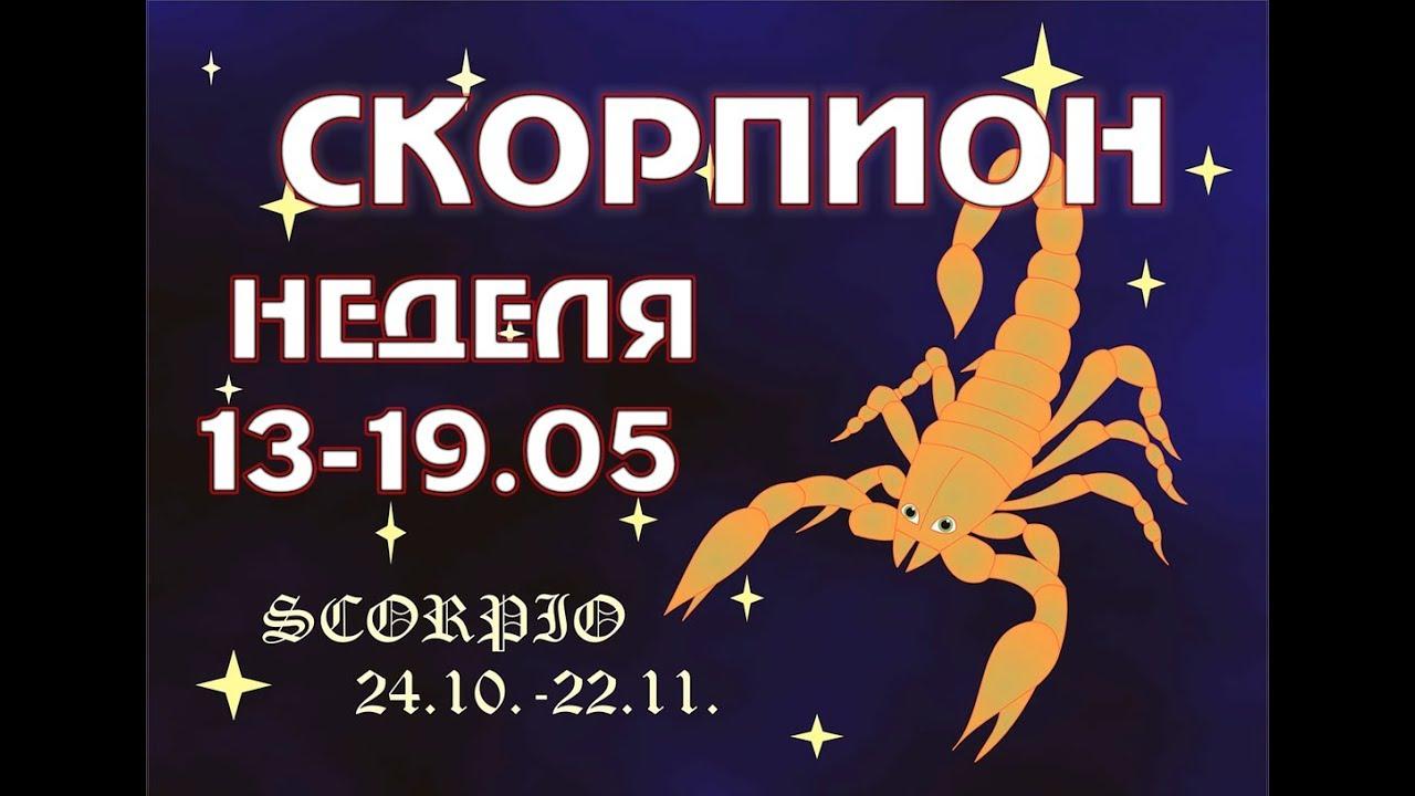 СКОРПИОН ТАРО расклад на неделю с 13 по 19 МАЯ ГОРОСКОП