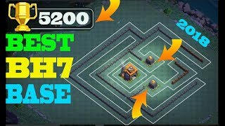BEST Builder Hall 7 Base w/ PROOF!! +5000 CUPS! | CoC BH7 Base Design 2018 | Clash of Clans #FUN