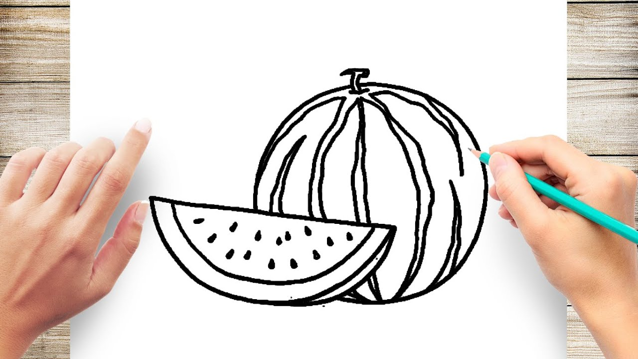 How To Draw Watermelon Easy Youtube