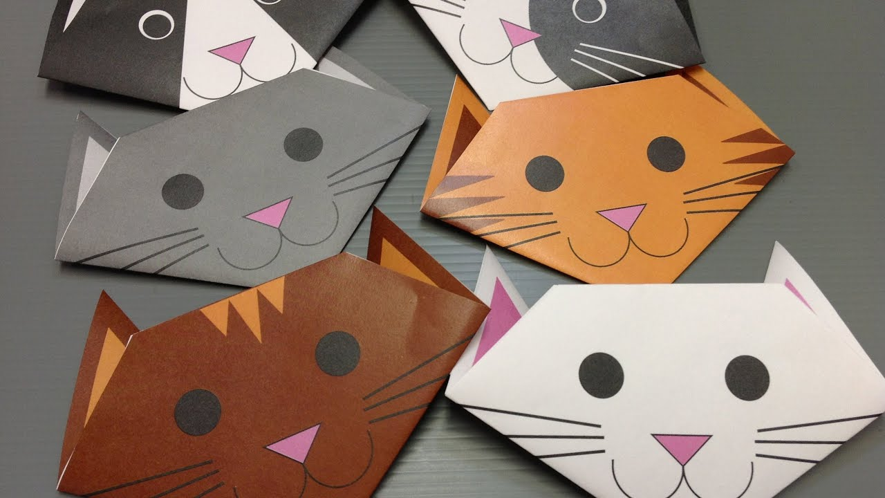 Free Origami Cat Paper - Print Your Own! - Cute Cats - YouTube - photo#40