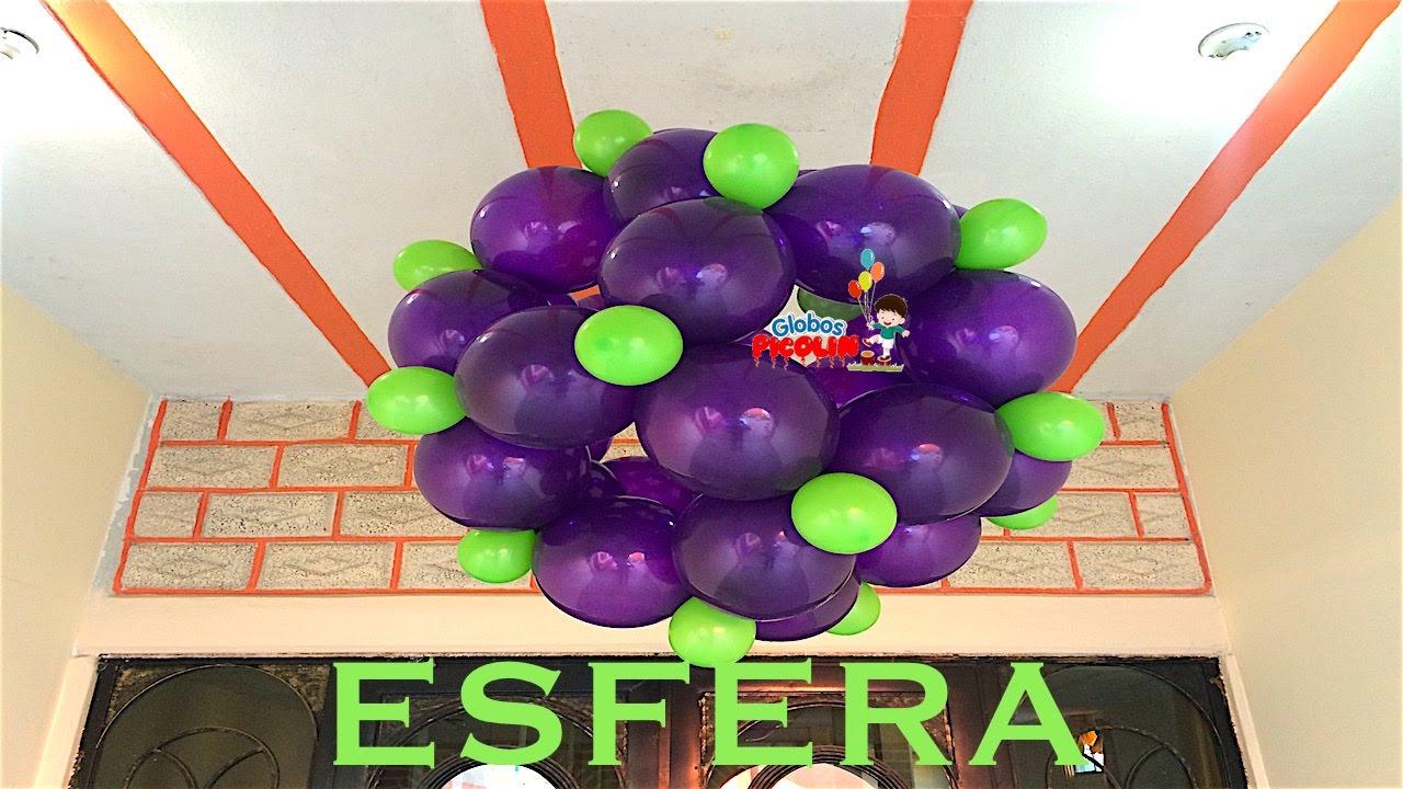 Como hacer esfera con globos bipolo quick link o link a for Como hacer decoracion con globos