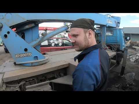 Морально готовимся к ремонту двух автовышек TADANO AT-200TG и DASAN. Осмотр на улице и болтовня