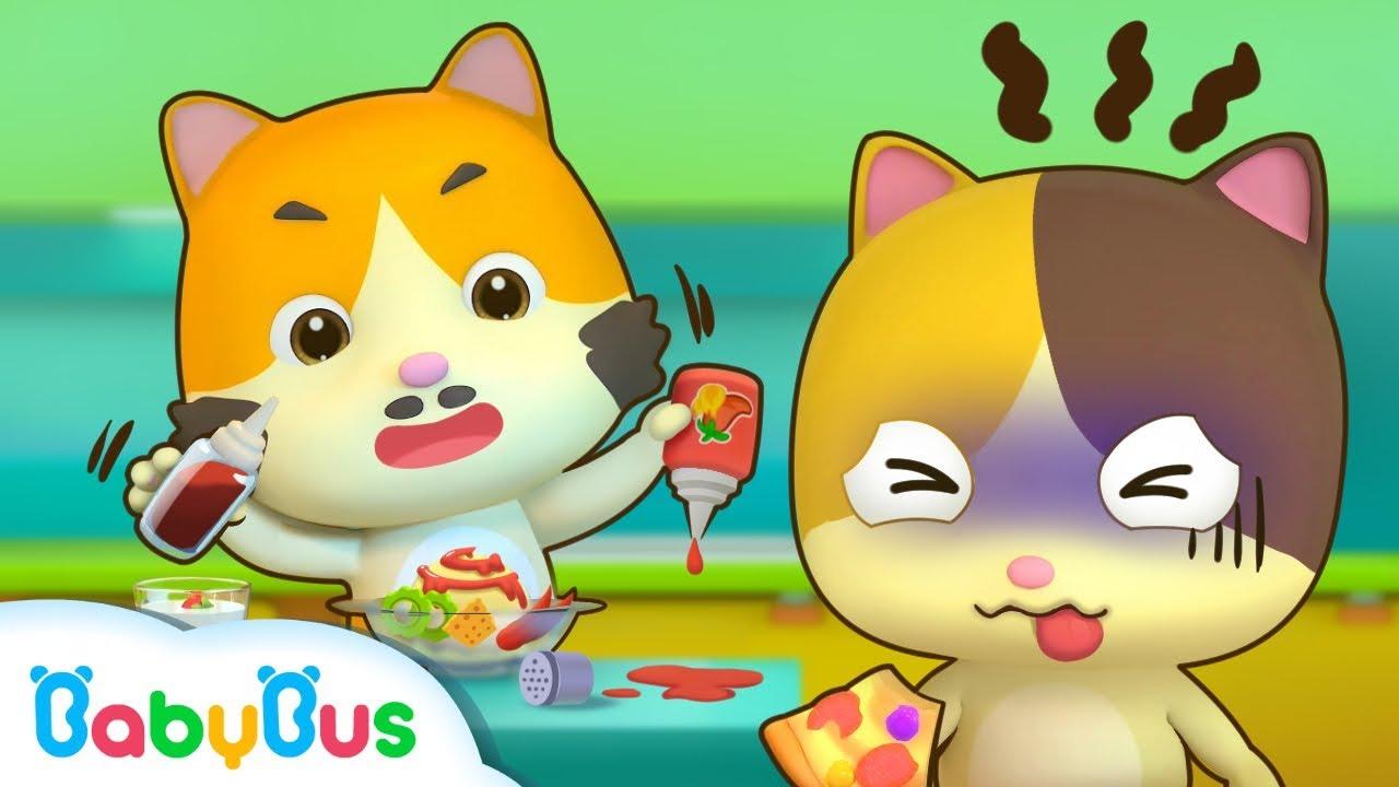 貓咪爸爸的創意料理 | 美食兒歌 | 童謠 | 動畫片 | 卡通片 | 寶寶巴士 | 奇奇 | 妙妙