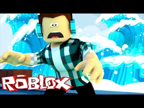 Roblox – FUJA DO TSUNAMI !! (Roblox Escape The Flooding City)