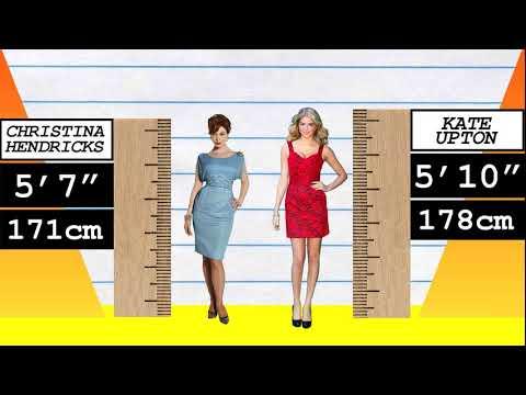 How Much Taller? - Christina Hendricks vs Kate Upton!